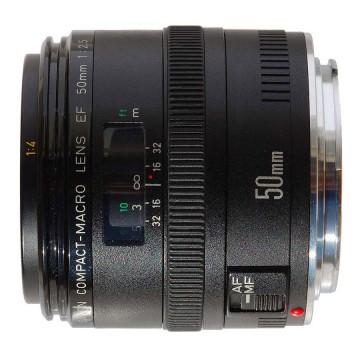 佳能/Canon EF 50mm f/2.5 微距 [50/2.5] 镜头套装 行货机打发票 可开具增值税专用发票
