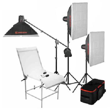 金贝摄影灯DII-250W*3闪灯摄台套装 适合饰品静物等多功能拍摄