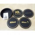 尼康/Nikon 原厂杯垫 隔热垫加厚餐垫皮革高档创意圆形10cm 4片一套(仅供网上下单)