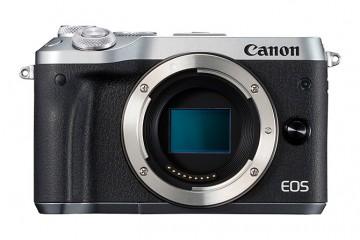 佳能/Canon  EOS M6 机身 (黑色/银色) 行货机打发票 可开具增值税专用发票