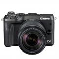 佳能/Canon EOS M6套机(18-150mm)微单相机M6 18-150套机 (黑色/银色)行货机打发票 可开具增值税专用发票