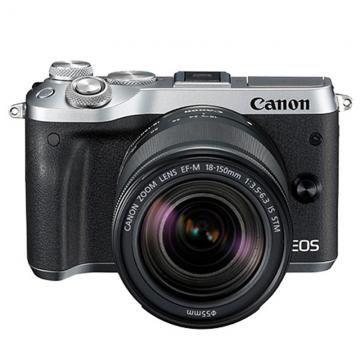 佳能/Canon EOS M6 套机(18-150mm)微单相机M6 18-150套机 (黑色/银色)行货机打发票 可开具增值税专用发票