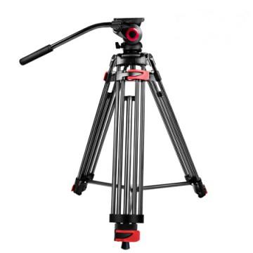 米泊/miliboo MTT602A摄像机三脚架 广播级单反相机三角架 含液压云台套装