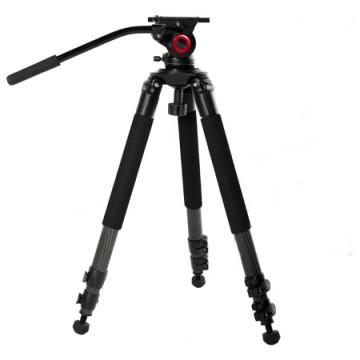米泊/miliboo MTT701B摄像机三脚架 碳纤维专业摄影大三角架 带液压云台