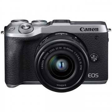 新.佳能/Canon EOS M6 套机(15-45mm)微单相机套机 (黑色/银色) M62 6II M6markII